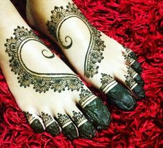Heart Mehndi Designs For Legs✖️Art. Fashion. Ideas. Home Decor  ✖️More Pins Like This One At FOSTERGINGER @ Pinterest✖️