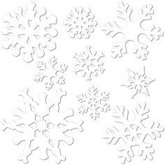 Snowflake Cutout Decoration (24 Packs) #Snowflakes