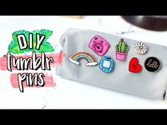 DIY Tumblr Pins Using Things You ALREADY Have | JENerationDIY - YouTube
