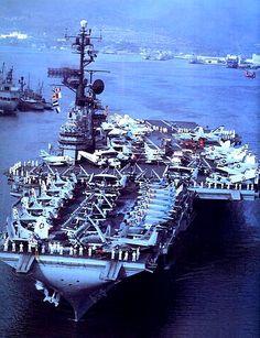 File:USS Coral Sea (CVA-43) leaving Pearl Harbor in April 1963.jpg