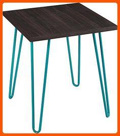 Altra Owen Retro Accent Table, Espresso/Teal - Fun stuff and gift ideas (*Amazon Partner-Link)