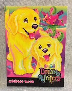 Vintage Lisa Frank Dream writer Address Book Casey Caymus Cactus