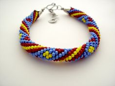 NEW! Beaded bracelet in Indian colors by EvAtelier1 on Etsy