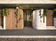 Pedestrian entry detail of our exciting new project in Fitzroy for Milieu Property. Great collaboration with Architects Melbourne, Melbourne Architecture, Facade Architecture, Residential Architecture, Entrance Design, Facade Design, House Design, Wall Design, Front Gates