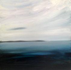 """""""Fog Burning Off"""" by Mark Johnson (oil on panel, 22 x 22, $1200)"""