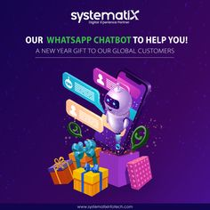 In the world of Instant Messaging, Systematix has taken the initiative to be faster to you. We are now on World's leading messaging platform WhatsApp with our ChatBot HelpU. An AI-powered Chatbot HelpU makes us available to you 24x7 without any geographic barriers. Get assistance on your queries, check out some of our work, or reach out to us instantly through HelpU. Try it out and share your experience with us! Instant Messaging, New Year Gifts, The Help, Platform, Messages, Digital, Check, Heel