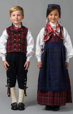 Barnebunad fra Valdres - Oppland - Bunader - Norsk Flid nettbutikk og bunader Folklore, Folk Costume, Costumes, Frozen Costume, Swedish Design, Unique Dresses, Traditional Dresses, Boy Fashion, Norway