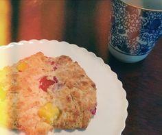 Raspberry and mango scones