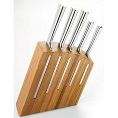 Pradel Jean Dubost 18516, Ceppo Kimono con 5 coltelli da cucina in acciaio inox
