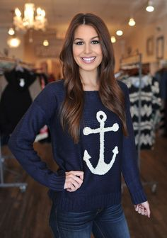 Dottie Couture Boutique - Anchor Sweater, $52.00 (http://www.dottiecouture.com/anchor-sweater/)