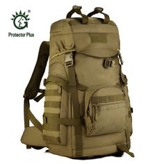 46.30$  Buy now - http://alipni.shopchina.info/go.php?t=32796592475 - Large Capacity 60L Army Fans  Tactics Backpacks Outdoor Sport Climbing Bags New Waterproof Assault Travel Military Rucksack S070  #aliexpress