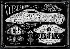 Delahaye project by bmd design by BMD Design. Kick ass hand done type!
