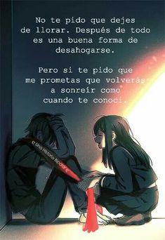 No te pido que dejes de llorar.