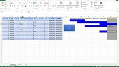 Diagramme de gantt sous excel gestion de projet pinterest nous revenons avec le diagramme de gantt sur excel avec prise en compte de la notion de jours couls dure et retard et relations ff fin fin ccuart Images