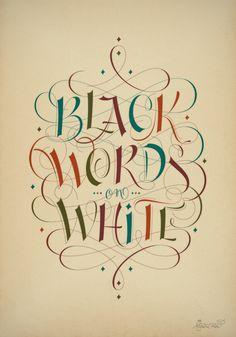 Black words on white by Martina Flor, via Behance