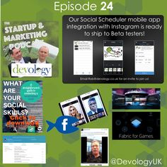Episode 24 of the #Startup and #Marketing #Podcast http://devology.co.uk/#podcast We cover #Instagram scheduling and more