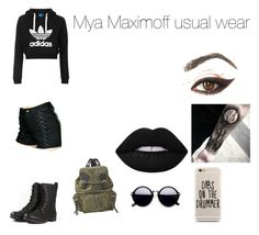 """""""Mya Maximoff usual wear"""" by carrollgabriel on Polyvore featuring Topshop, Tripp, Burberry and Lime Crime"""