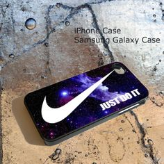 Nike Just Do It Blue Galaxy Nebula For iPhone 4/4S/5/5S/5C, Samsung Galaxy S3/S4, iPod Touch 4/5, htc One X/x+/S Case on Etsy, $15.75 CAD