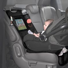 Lulyboo Baby Auto Seat Protector and Carseat Organizer with Clear Device Pocket Lulyboo Baby Car Seat Protector and Carseat Organizer with transparent device pouch, black Rear Facing Car Seat, Baby Life Hacks, Baby Gadgets, Baby Must Haves, Baby Supplies, Baby Necessities, Everything Baby, Baby Needs, Baby Time