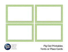 Free Tent Card Printables designed by Jessica Griffin from CanYouPixelThis for #GlueDots!