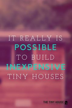 How to build a #tinyhouse on the #cheap
