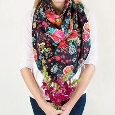 Logan & Lenora Boho Nursing Scarf  Made for nursing.  Styled for you. Now your favorite scarf can also be your nursing cover. With a pop of pom-pom.