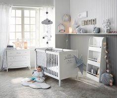 chambre bébé - déco douce thème nuage étoile