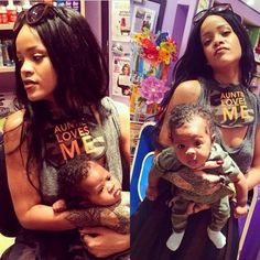 **Not my photo** I love Rihanna and how she is just soo involved in her nephew's life .. Really cute.