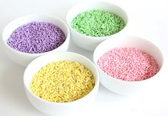 How to make your own colored sprinkles.
