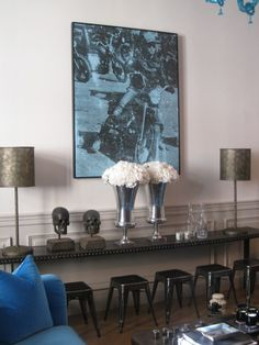 Interior Designer, Maxime Jacquet always knows how to add the finishing touch! All white flowers. :)  http://maximejacquet.tumblr.com/