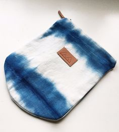 Shibori Eco Canvas Zipper Pouch by From Marfa With Love on Scoutmob