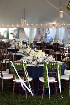 navy table cloths - i can definitely see this against your peach/coral/mint scheme.  just saying.