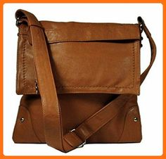 342b246f270d Black Friday Stitched Flap Cross-body Handbag (Luggage) from OMG Styles