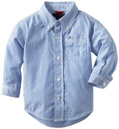 Tommy Hilfiger Baby Boys Stripe Shirt Strong Blue 24 Months * To view further for this item, visit the image link.