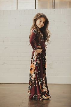 This Kids Floral Maxi Dress is so adorable, your child will want one in every color! They are so comfortable and made from the softest fabric!