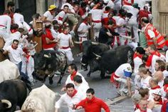 One reason, besides the heat, to maybe not walk in July - the Running of the Bulls takes over Pamplona!