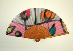 Hand fan Handpainted Silk-Abanico-Wedding by gilbea on Etsy