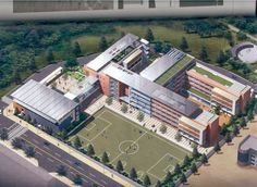 Ewha Middle School - Back to School Architecture Drawing Plan, Conceptual Architecture, Education Architecture, Facade Architecture, School Architecture, Landscape Architecture, Landscape Plans, School Building Design, School Design