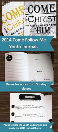 Awesome 2014 mutual journals. These really help the youth participate and get the most out of the lessons!
