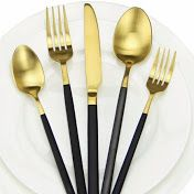 Please like my YouTube Cooking Channel Kitchen Utensils, Kitchen Dining, Wedding Cutlery, Youtube Cooking Channels, Gold Cutlery, Indian Dishes, A Food, Delish