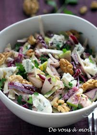 : Red Cabbage Salad, Fennel, Green Apple and Gorgonzola - recette divers - Raw Food Recipes Easy Salads, Healthy Salad Recipes, Raw Food Recipes, Vegetarian Recipes, Cooking Recipes, Red Cabbage Salad, Food Reviews, How To Cook Quinoa, Chefs
