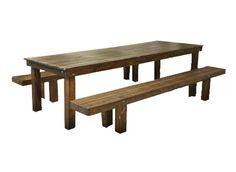 Bay Area | Stuart Rentals - Harvest Table & Bench
