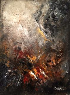 """Zone 36"""" x 40"""" Painting by Christie Clunan"""