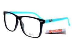 So great .. Classic Ray Ban Square RB2428 Sunglasses Black Blue Frame Transparent Lenses $14.86...
