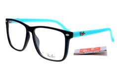 Classic Ray Ban Square RB2428 Sunglasses Black Blue Frame Transparent Lenses $14.86... My
