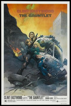 The Gauntlet one sheet movie poster. Clint Eastwood. Art by Frank Frazetta