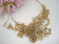 Vintage Statement Brass Necklace by BohemianGirlVintage on Etsy, $125.00