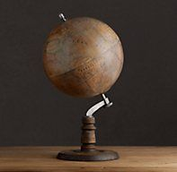 1949 French Library Globe, Restoration Hardware