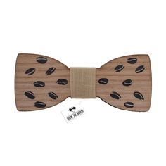Wooden Coffee Beens Bow Tie