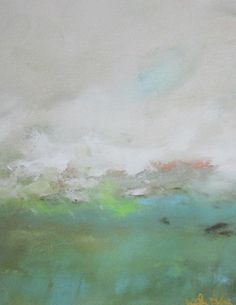 Abstract Landscape Painting Orignal Art Green by lindadonohue